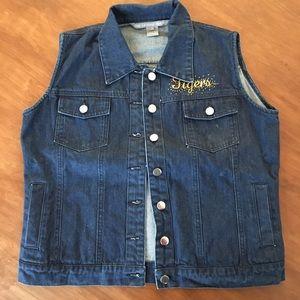 The License House Missouri Tigers Jean Jacket Vest
